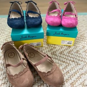 Lot of 3 pairs of Toddler Jack Rogers Shoes size10